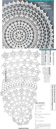 Crochet round doily, floral lace ~~                                                                                                                                                      More