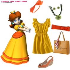 Assemble your own Princess Daisy outfit from Target, Payless, and Amazon!