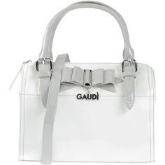 Gaudi' Handbag ($115) ❤ liked on Polyvore featuring bags, handbags, white, mini satchel, zipper purse, hand bags, handbags purses and satchel purse