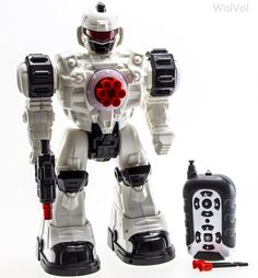 This thing can dance! WolVol Remote Control Robot Police Toy with Flashing Lights and Sounds, Great Action Toy #StarReviews
