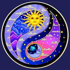 Yen Yang, Ying Y Yang, Yin Yang Art, Sun Moon Stars, Sun And Stars, Sun And Moon Drawings, Pictures Of The Sun, Dot Art Painting, Sun Art