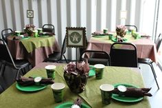 """Photo 7 of 15: Como Theme with Green Army Men / Birthday """"Army Camo Party""""   Catch My Party"""
