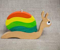 Frédo L'Escargot en bois massif : Jeux, jouets par lesjouetsdefanny