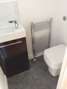 Cloakroom Vanity Unit With Metro Tiles As Backsplash By Uk Bathroom Guru Basins Vanity Units