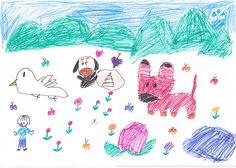 ■■■大野小学校/3年生/女の子■■■ 【作品タイトル】いろいろな町 【伝えたい事】楽しくえをかいたことと、うれしいきもちでかいたことです。