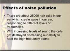 Effects of noise pollution Noise Pollution, The Cell, Airplane, Environment, Waves, Health, Plane, Salud, Health Care