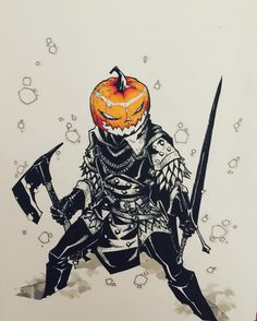 "6,063 Likes, 69 Comments - Artemii Myasnikov (@art_veider) on Instagram: ""Day 31 Pumpkin Head The Horseman #inktober2016 #inktober #halloween #art #artwork #arts #comics…"""