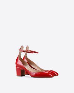Valentino Garavani Tan Go Pump, Ankle Straps for Women - Valentino Online Boutique