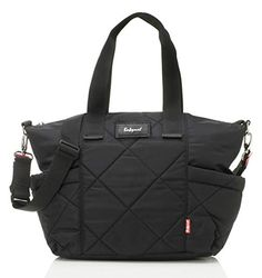 The Evie Quilted Diaper Bag from Babymel is the perfect way to carry all the essentials your baby needs. Complete with multiple pockets for organization, this bag comes with a detachable shoulder strap, and is made of strong, water resistant fabric. Buy Backpack, Diaper Bag Backpack, Diaper Bags, Black Diaper Bag, Changing Bag, Online Bags, Backpacks, Leather, Evie
