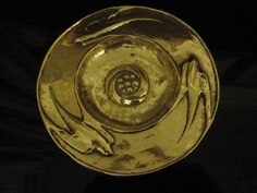 Glasgow style brass plate with swallows and seed head motif