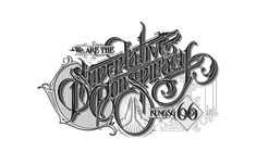 Collection of hand drawn logotypes and typographic illustrations.
