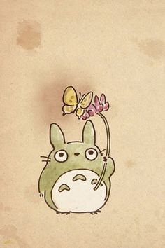 Cute Totoro phone wallpaper