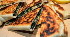 for those who are not familiar with this tasty turkish dish - gözleme (pronouced goes-leh-meh) are hand-rolled bread-like pockets filled ...