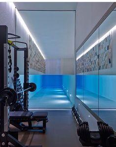 Home gym design interior indoor pools ideas for 2019 Interior Design London, Gym Interior, Indoor Swimming Pools, Swimming Pool Designs, Home Gym Design, House Design, Inside Pool, Casa Patio, Luxury Pools