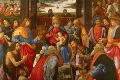 Istituto degli innocenti, a Firenze-Domenico Ghirlandaio, Adorazione dei Magi (1488)