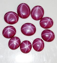05-10 Ct. Natural Outstanding Red Star Ruby Oval Shape 10 Certified Gemstone Lot