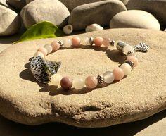 Bracelet en pierre de soleil naturelle, bracelet bouddha pierres gemmes, bracelet chic en pierres fines : Bracelet par lapassiondisabelle