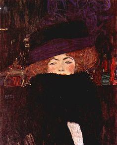 Lady with Hat, Gustav Klimt