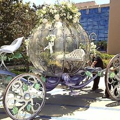 Cinderella Coach, Cinderella Theme, Cinderella Carriage, Horse Drawn Wagon, Wedding Carriage, Pumpkin Carriage, Fairytale Cottage, Princess Aesthetic, Horse Carriage