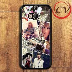 Taylor Swift Collage HTC One M8 Black Case