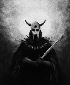 """A Draugr is a creature of Nordic mythology similar to a vampire, though the original Norse meaning of the word is """"ghost"""". Draugar were believed to be the bodies of the dead. Views differ on whether the personality and soul of the dead person lingers in the draugr.Unlike the vampires of Eastern European lore, Draugr are savage nightwalkers who possess superhuman strength, the ability to alter their size at will, being able to escape from their mound as a wisp of smoke or become so enormous…"""