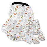 #10: Nursing Cover for Breastfeeding Breathable Scarf | Multi Use Stretchy Baby Car seat Canopy Set for Girls and Boys Infinity scarf | BONUS Beanie Bag Booties | Gift for Shower Moms