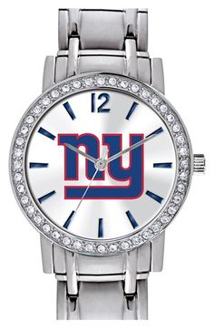 Game Time Watches 'NFL All Star - New York Giants' Crystal Bezel Bracelet Watch, 32mm available at #Nordstrom