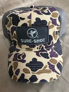 Sure-Shot Trucker ( Old School Camo with Mesh Back) V2 NEW!!! 41fc1ab1e075