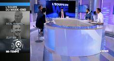 Notre modèle de chemise METIS Blanc / Bleu-ciel fait son apparition sur le plateau de L'Equipe21 avec Xavier Barret