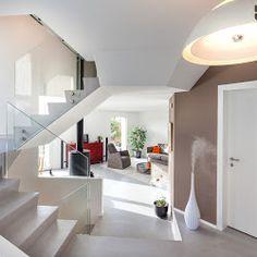 Béton ciré - sol + escalier - par Ambiance Béton Sàrl