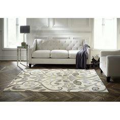 Found it at Wayfair - Spaces HomeBeyond© Scroll Neutral Area Rug