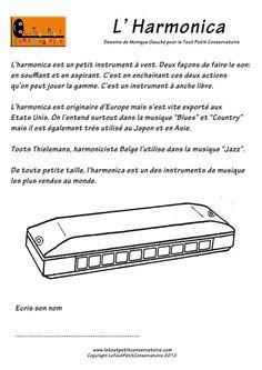 Coloriage de l'harmonica.