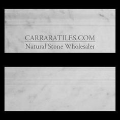 (http://www.carraratiles.com/carrara-marble-italian-white-bianco-carrera-3-4-baseboard-molding-polished.html)