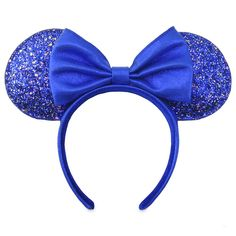 Minnie Mouse Ear Headband – Wishes Come True Blue | shopDisney Disney Minnie Mouse Ears, Mickey Mouse And Friends, Mickey Ears, Mouse Ears Headband, Ear Headbands, Disney Headbands, Metallic Blue, Blue Glitter, Disney World Christmas