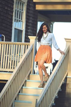Classy Girls Wear Pearls: Peach, Porch and Pick Up