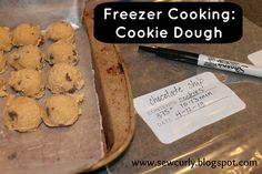Sew Curly: Freezer cooking - Cookie Dough