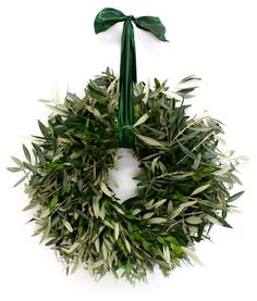 "18"" Olive Branch Wreath, Dried"