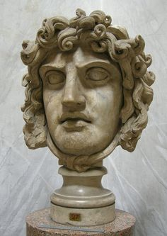 The Gorgon Medusa, Roman bust (marble), 2nd century AD, (Museo Chiaramonti…
