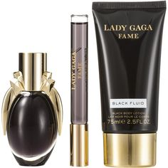Lady Gaga Fame 3 Piece Gift Set (32 BAM) ❤ liked on Polyvore featuring beauty products, fragrances, beauty and fragrance sets