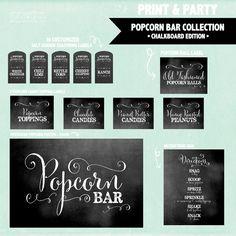 RESTYLE   Popcorn Bar - Fancy Chalkboard Edition