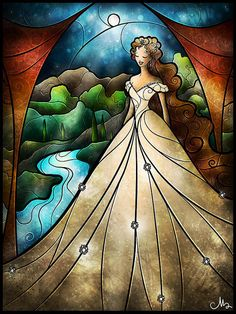 "Phantom and the Opera ""Think of Me"" stained glass  By Mandie Manzano"