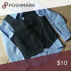 2 pc shirt and vest Boys size 10 Boys size 10 button down shirt and vest.  Excellent condition! Shirts & Tops