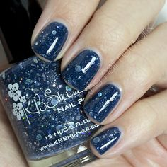 Women's #Beauty #Products: #Cosmetics / Makeup: Will Yule Marry Me? Navy #Blue Glitter Nail Polish- 0.5 Oz Full Sized Bottle #DIY #Nailart: Health, Skin, and Personal Care