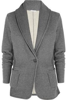 Love this grey knit blazer on Spencer!