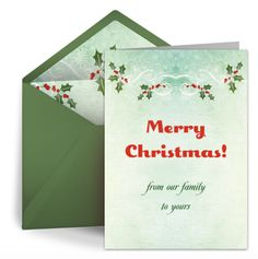 Free eCards for Christmas from Punchbowl