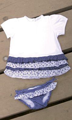 BRAGUITA Y CAMISETA DE BEBE CHIC. Braguita de lycra y camiseta chic, disponible en tallas 6-12-18 meses. Se venden por separado.