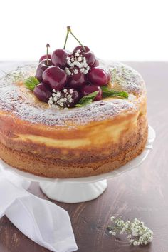 Cake with ricotta cheese Bakery Recipes, Cooking Recipes, Cheesecake Recipes, Dessert Recipes, Yummy Treats, Yummy Food, Ricotta Cake, Refreshing Desserts, Gateaux Cake