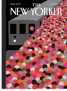 The New Yorker cover, July 2019 by Christoph Niemann The New Yorker, New Yorker Covers, Graphic Design Magazine, Magazine Design, Print Magazine, Magazine Art, Graphic Design Inspiration, Creative Inspiration, Christoph Niemann