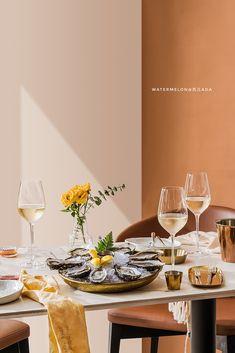 夏日旅行|摄影|静物|西瓜ADA - 原创作品 - 站酷 (ZCOOL) Food F, Wine Photography, Minimal Decor, Restaurant Recipes, Food Styling, Food Inspiration, Table Settings, Yummy Food, Dining