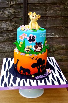 Lion King Cake. Omg omg omg omg!!!!!!! I want this!!! But I prob wouldn't eat it cuz its to beautiful!!!!!